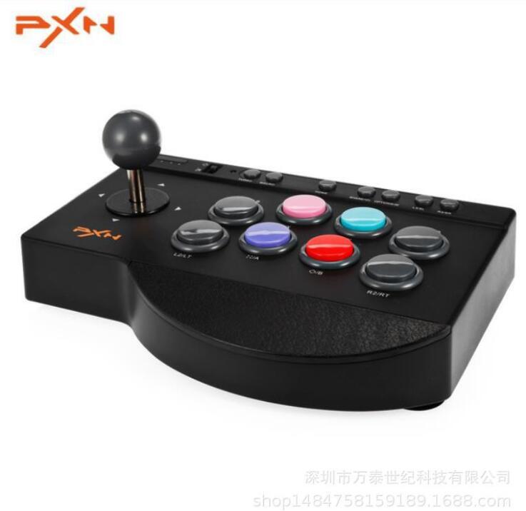 PXN Tay cầm chơi game Võ sĩ - PXN0082 Arcade điên 4 hợp 1 máy tính tương thích với /PS3/4/XBOXONE