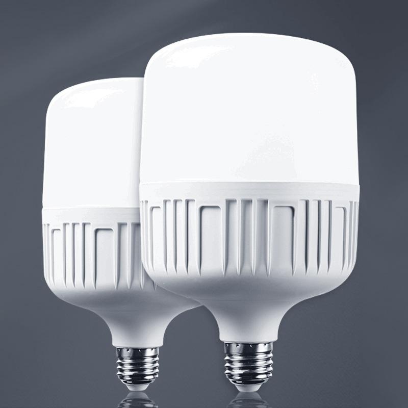 QIANZHOU Bóng đèn LED Nhà máy trực tiếp dẫn bóng đèn nhựa bóng đèn E27 vít liên tục dòng chảy tiết k