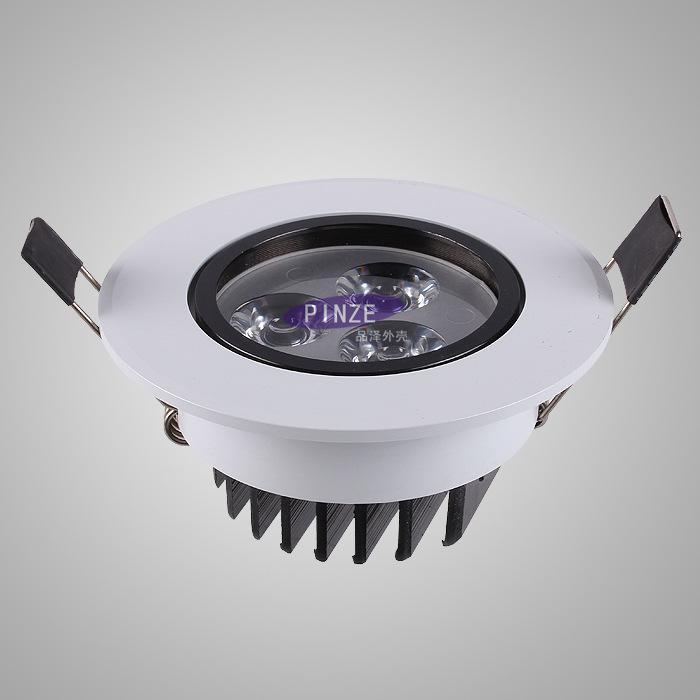 PINZE Đèn âm trần bộ Đèn LED trần mới màu trắng cộng với màu đen với bộ lưỡi dao màu đen sê-ri 3W-18