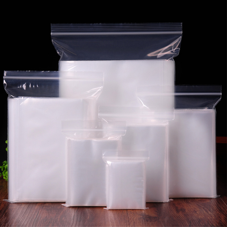 Polysmarts Túi PE Mô hình vụ nổ tại chỗ Túi nhựa PE tự niêm phong Túi trong suốt Ziplock làm dày tra