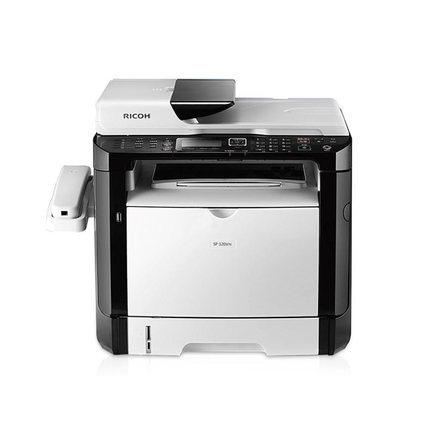 RICOH - Máy in fax MFP laser đen trắng 320 SP 320SFN có dây in