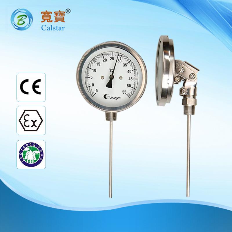Đồng hồ đo áp suất thép không gỉ , áp kế chính xác cao