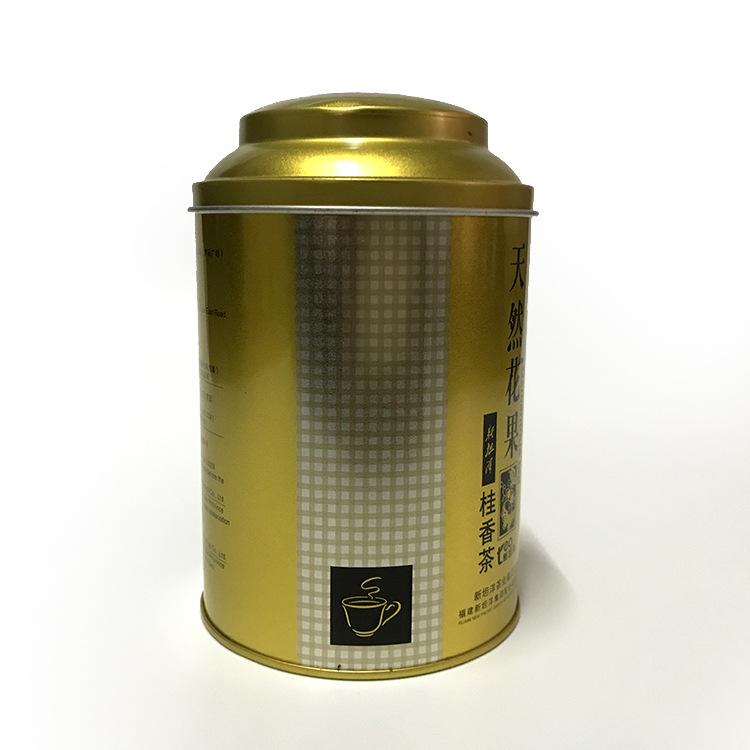 OML Hũ kim loại TWG lon trà lớn Đóng gói trà tùy chỉnh chuyên nghiệp lon hộp kim loại Lon thiếc vàng