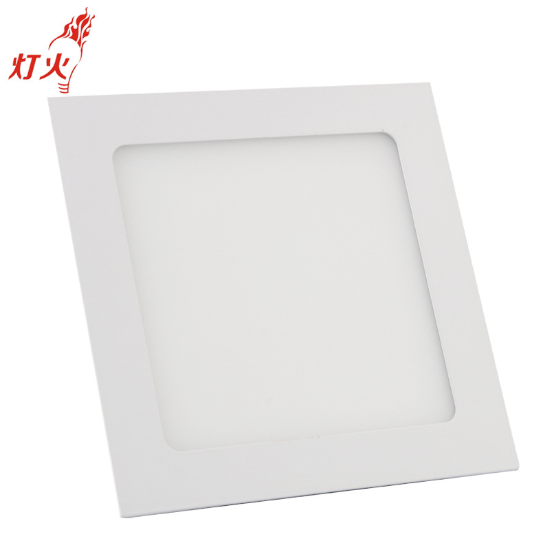 Bảng điều khiển ánh sáng Led chiếu sáng trong nhà phần mỏng nhúng ánh sáng vuông văn phòng bảng điều