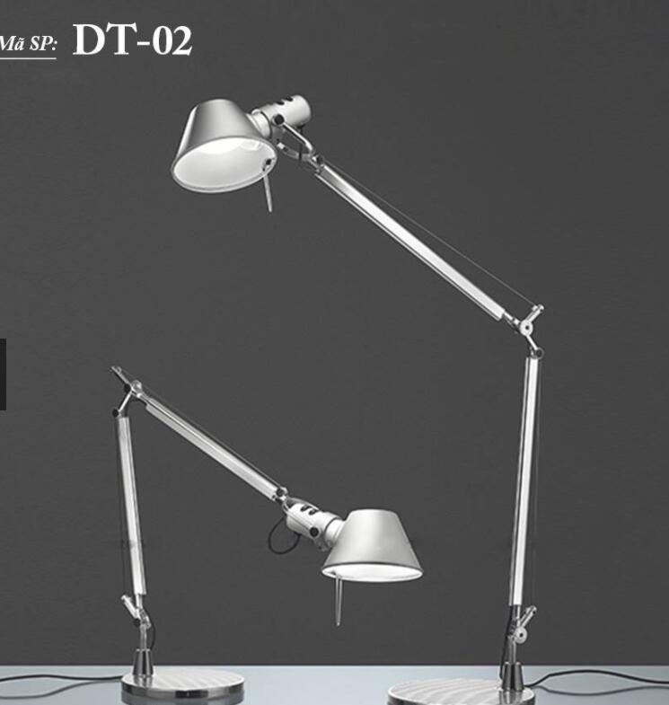 Đèn Bàn Inox Cao Cấp IKYCHI LAMP DT02 - Tặng Kèm Bóng LED