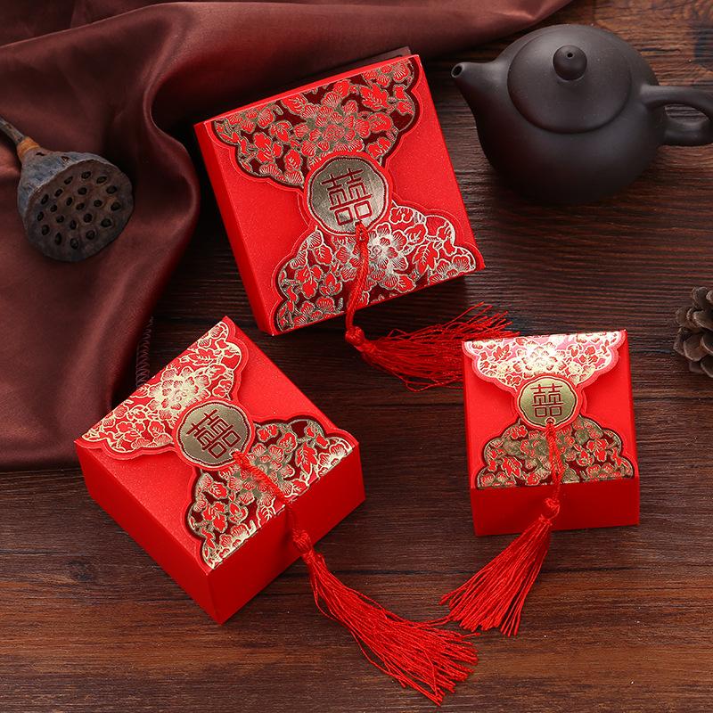 JIXUN hộp quà tiệc cưới Đám cưới bán buôn hộp kẹo cưới sáng tạo túi kẹo cưới