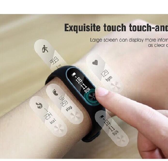 Vòng đeo tay thông minh  Vòng Đeo Tay Thông Minh Đa Năng Smart M2, Kết Nối Bluetooth, Vòng Đeo Tay T