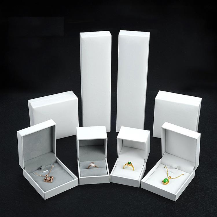Hộp trang sức Cao cấp tại chỗ đặc biệt da đặc biệt PU kết cấu hộp trang sức vòng cổ hộp bán buôn cộn