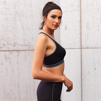 Thị trường bảo hộ lao động  Hosa Đồ lót thể thao nữ Hosa hấp thụ sốc chống chảy xệ Bà tập thể dục cỡ