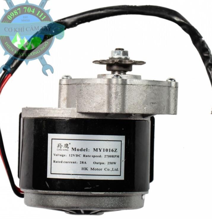 Mô-tơ điện  / Động cơ điện Mô Tơ Giảm Tốc MY1016Z 12V-250W