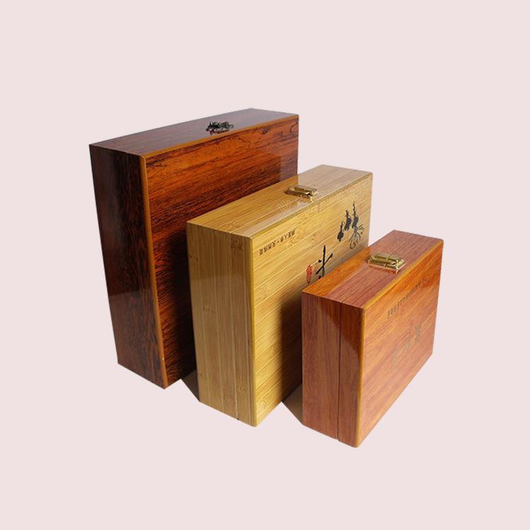 Hộp gỗ Nhà máy cung cấp trực tiếp Cổ điển hộp gỗ cao cấp hộp quà tặng chăm sóc sức khỏe sản phẩm trà