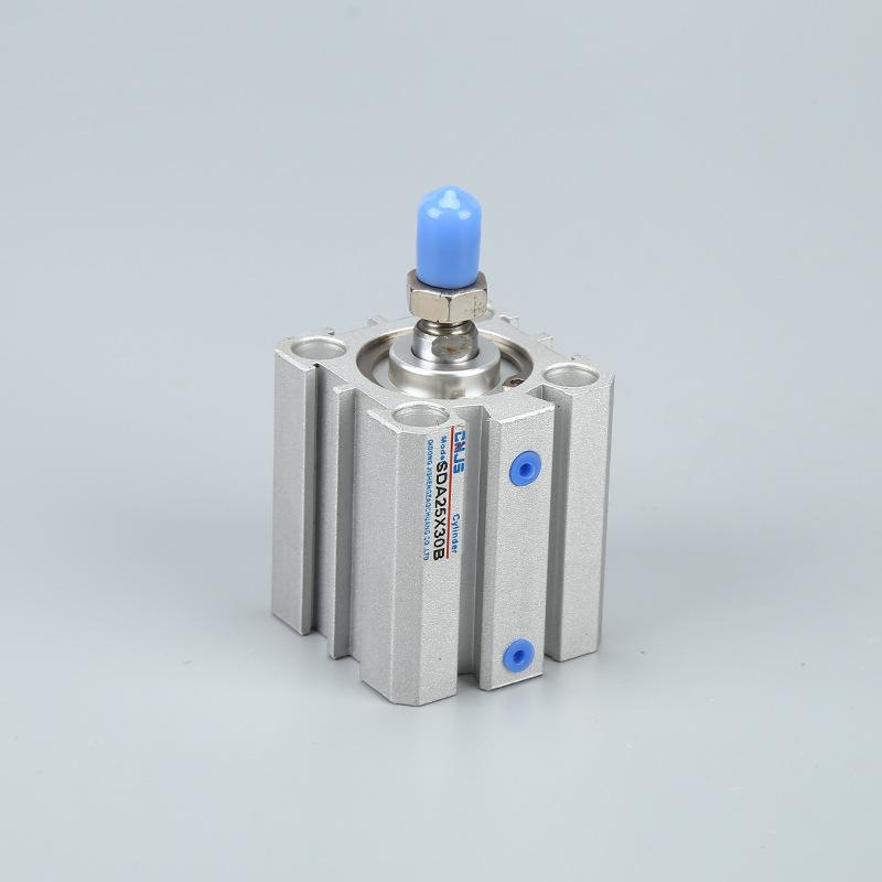 JISHENG Ống xilanh Nhà máy trực tiếp SDA series xi lanh siêu mỏng SDA25X30-B với răng ngoài có thể đ