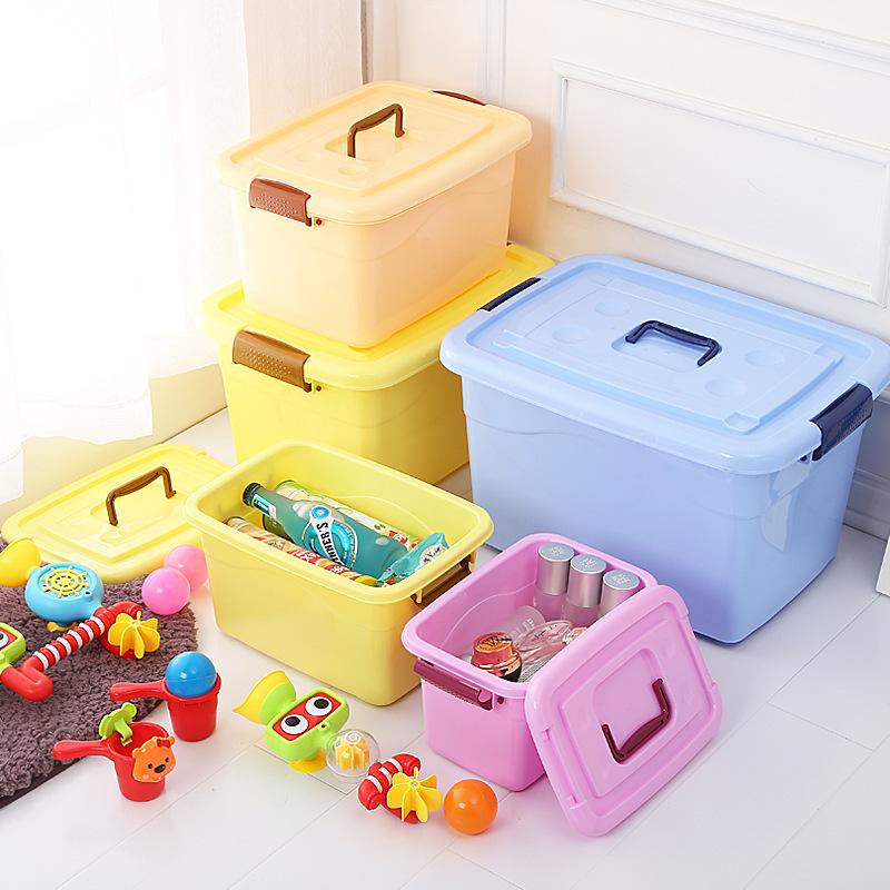 SHENGJIE Thùng nhựa Hộp nhựa lớn lưu trữ xách tay hộ gia đình trẻ em hộp lưu trữ đồ chơi ròng rọc Hộ