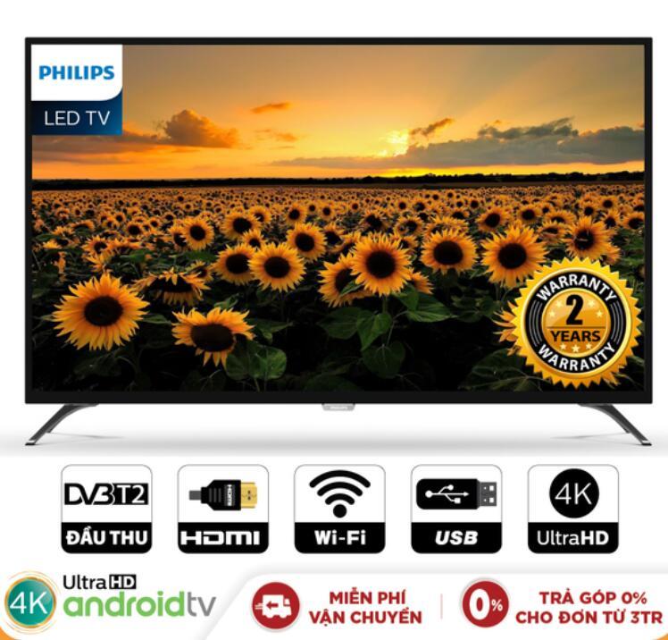 Tivi LCD Smart Tivi Philips 50 Inch UHD 4K- 50PUT6002S/67 (Chính Hãng Phân Phối)