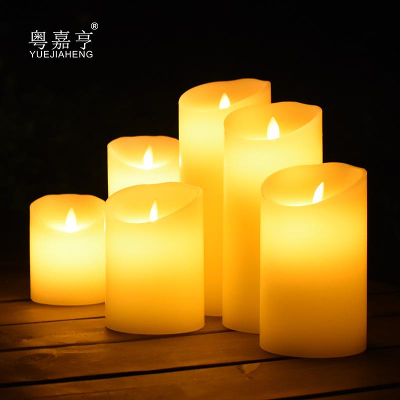 JIAHENG Bóng đèn nến LED điện tử nến ánh sáng đung đưa mô phỏng paraffin nến giả thanh đám cưới nhà