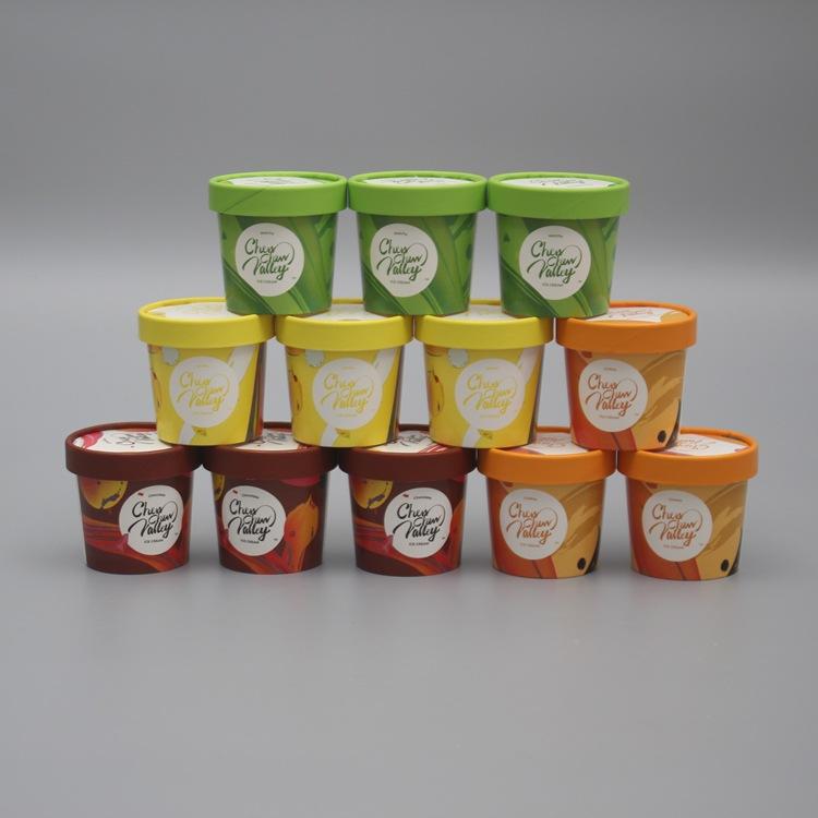 Ly giấy Nhà máy bán buôn cốc giấy 130ml có nắp màu kem cao cấp tùy chỉnh cốc trà sữa dùng một lần