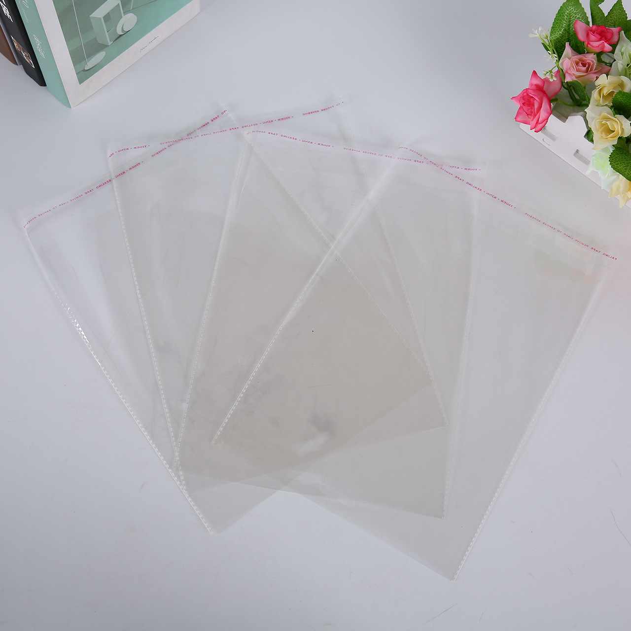 BAISHI Túi opp Túi nhựa tự dính tại chỗ Túi ziplock tùy chỉnh Túi Jade túi nhỏ Opp túi quà tặng túi
