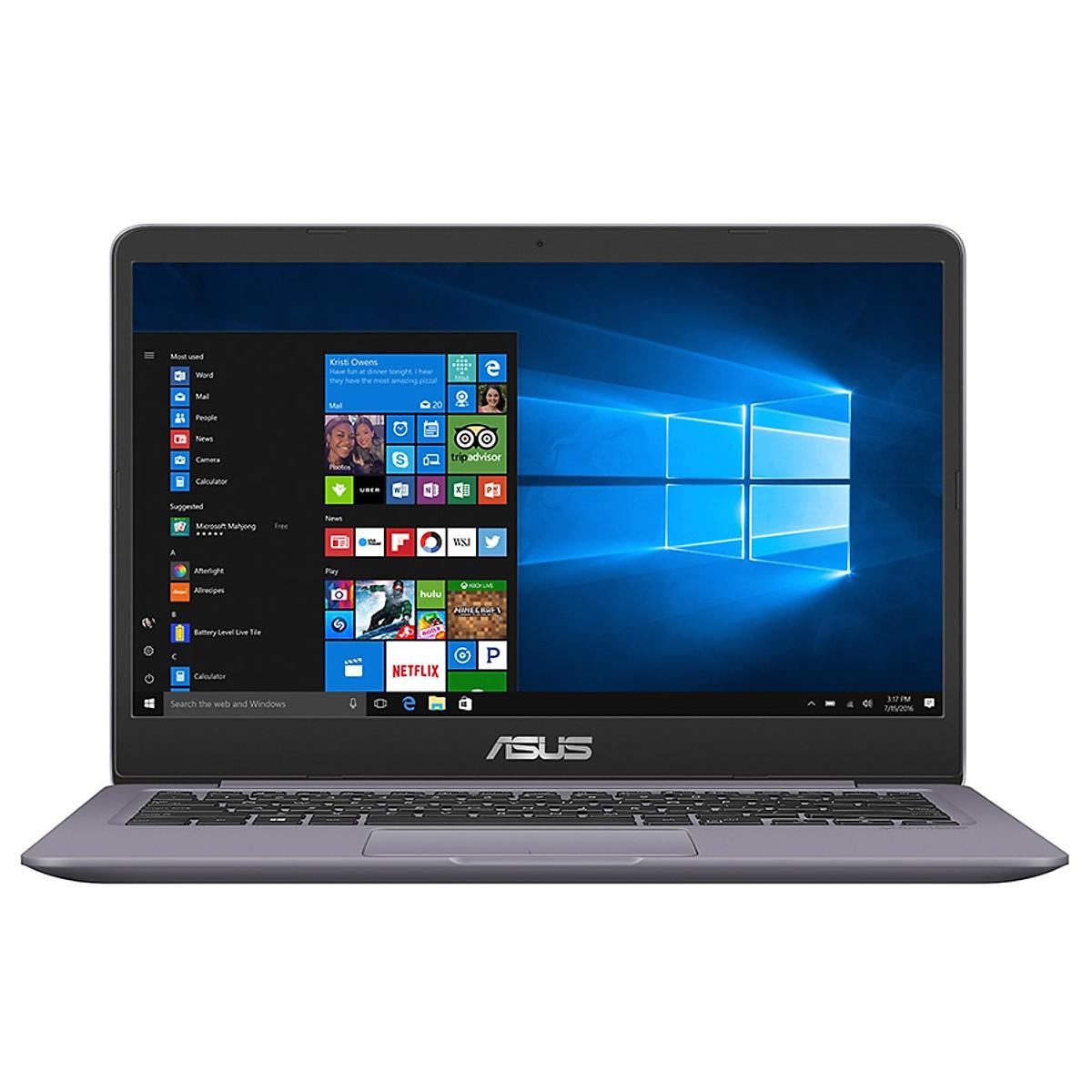 Asus   Máy tính xách tay - Laptop    Laptop Asus VivoBook 14 A411UA-EB872T Core i3-7020U/ Win10 (14