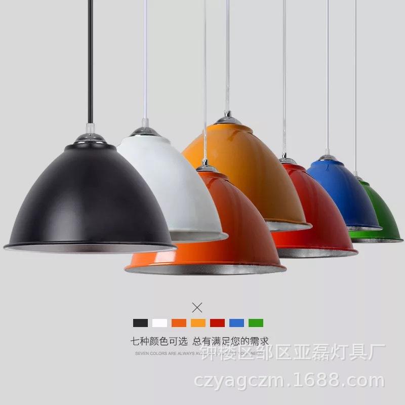 YALEI Máng chụp đèn Hiện đại tròn sáng tạo một đầu nhỏ đèn chùm cá tính nhà hàng tiệm hớt tóc quán b