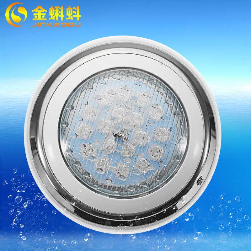 JINKEDOU Đèn LED âm nước Đèn LED gắn tường hồ bơi điều khiển từ xa đầy màu sắc Đèn dưới nước 24W Đèn