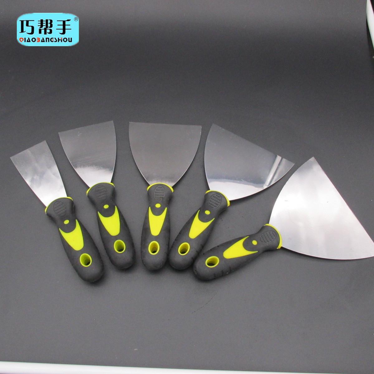 QIAOBANGSHOU Công cụ nghề mộc Nhà máy giá bán buôn gương đôi màu xử lý putty dao nhựa xử lý putty da
