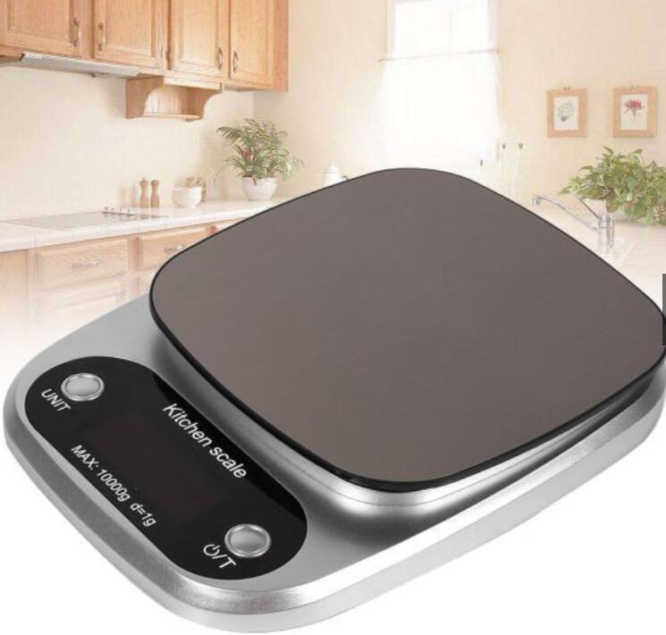 Cân Điện Tử 10kg / 1g Được Làm Từ Thép Không Gỉ Dùng Cho Nhà Bếp