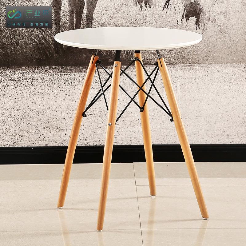 Thị trường nội thất văn phòng 604 nội thất gỗ rắn bán buôn Bàn tròn sáng tạo bàn nói chuyện đơn giản