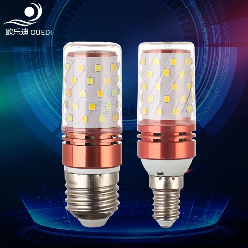OULEDI Bóng đèn LED bắp ngô Nhà máy trực tiếp đầu đèn LED mạnh nến e14 / e27 vít nhà ngô tiết kiệm n