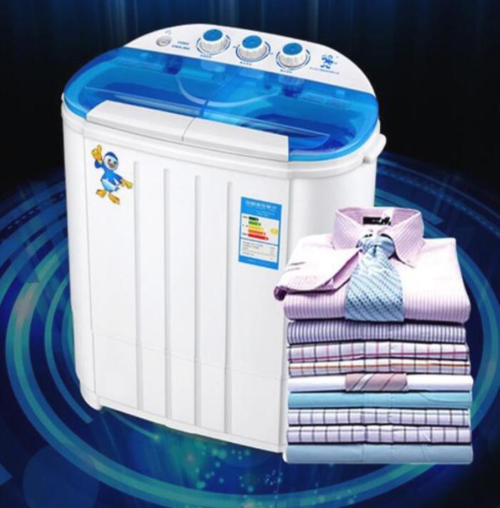 Máy Giặt Mini 2 Lồng 4.5Kg, Máy Giặt Mini Bán Tự Động (Trắng)