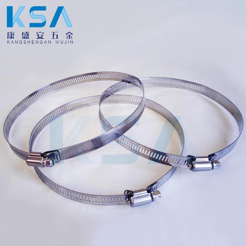 KANGSHENGAN Đai kẹp(đai ôm) Cung cấp 304 ống thép không gỉ kẹp đường kính 130-152 kẹp lớn Mỹ kẹp dây