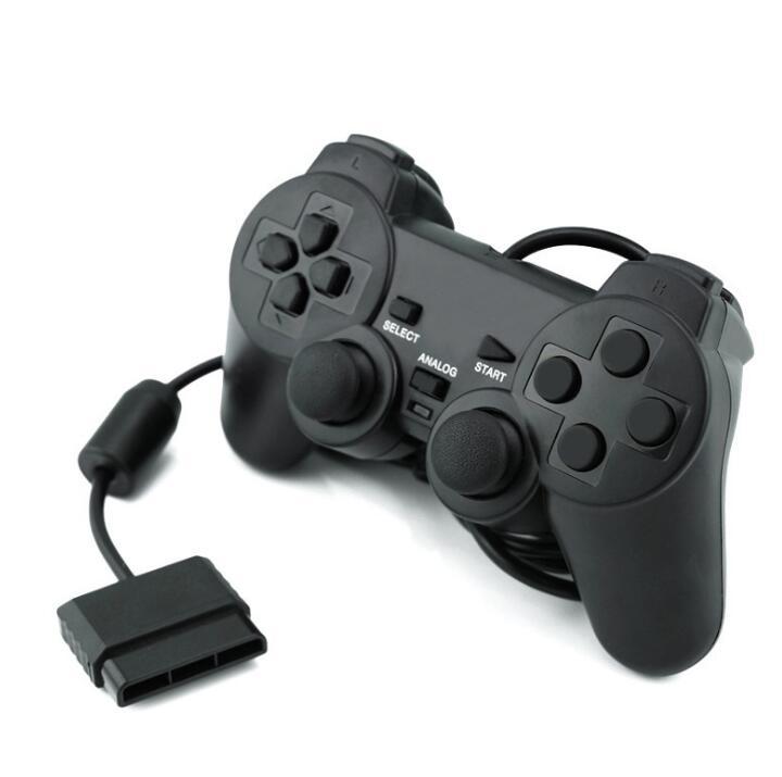 GOTOGETHER Tay cầm chơi game PS2 trò chơi cầm đôi cáp USB có thể chuyển đổi rung động gói trò chơi m