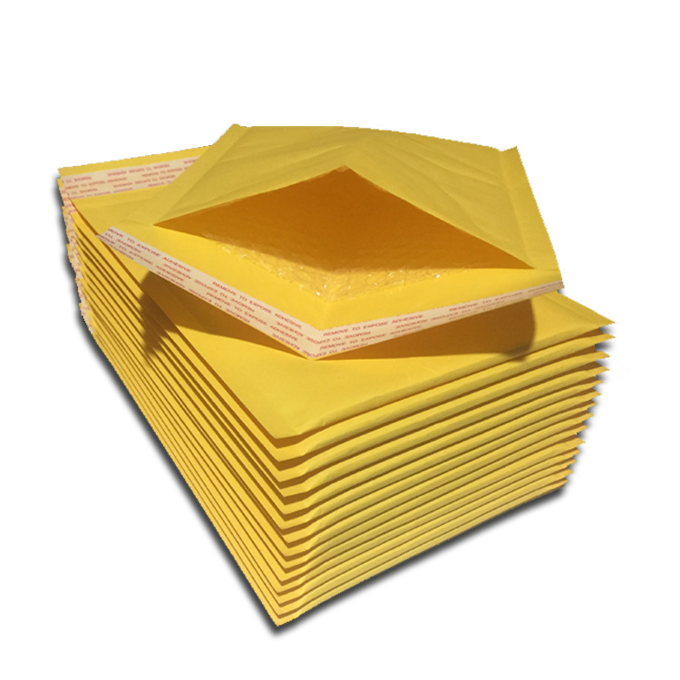 DADA Túi xốp hộp Túi bong bóng kraft Phong bì bong bóng màu vàng Thương mại điện tử túi thể hiện bán