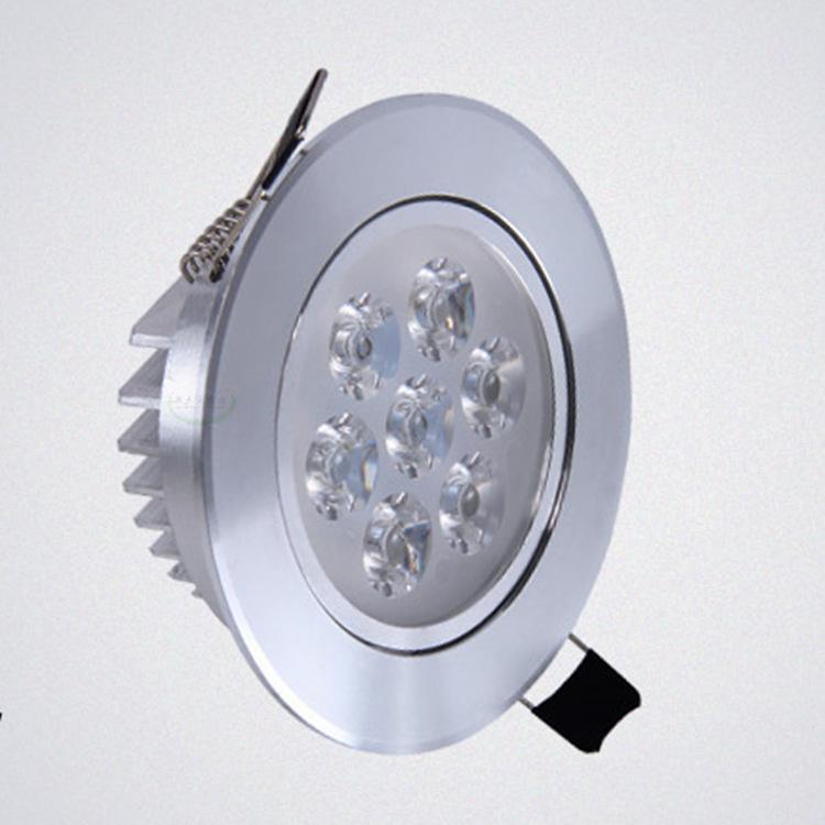 HUIRUI Đèn âm trần bộ Bộ đèn trần 5WLED Nhôm có độ bóng cao làm mát bằng cát bạc 5-7W