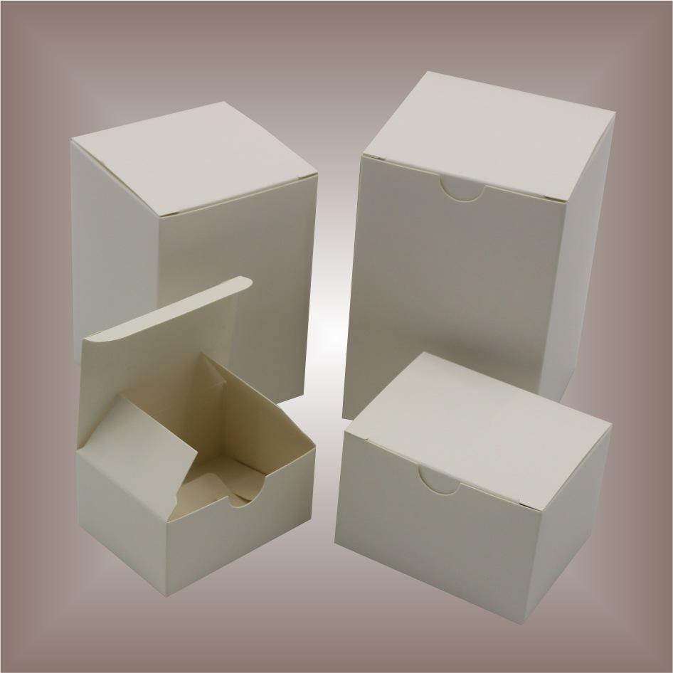 ZONGRUICHENG Hộp giấy Phổ thông nhỏ hộp trắng bao bì hộp hình chữ nhật hộp trắng không có logo trắng