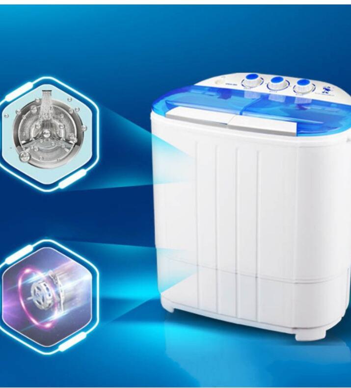 Máy Giặt Mini 2 Lồng Giặt (Chế Độ Ngâm, Xả, Vắt Có Tia UV Diệt Khuẩn) - The Royal's