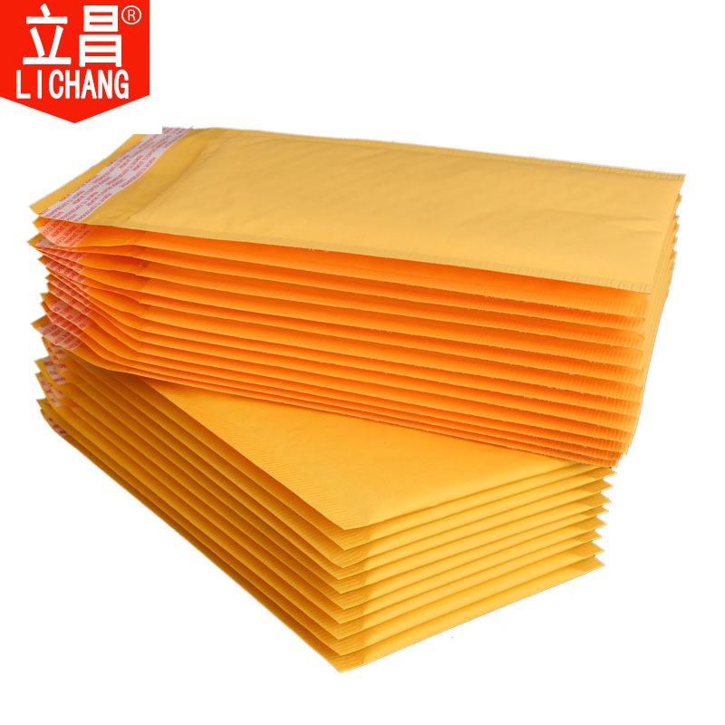 Lichang Túi đựng chuyển phát nhanh Yellow Kraft Paper Bubble Bag Dày Bubble Film Bag Express Express