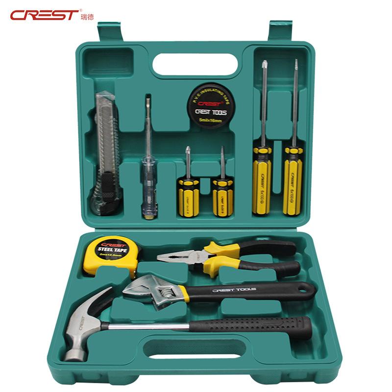 RUIDE Thị trường công cụ Kết hợp công cụ phần cứng Hộp công cụ hướng dẫn sử dụng hộ gia đình bộ bảo