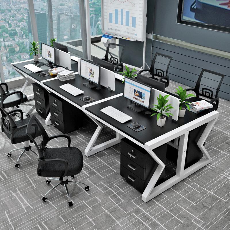 SHANGHONG Thị trường nội thất văn phòng Nội thất văn phòng đơn giản 2/4/6 người làm việc trạm nhân v