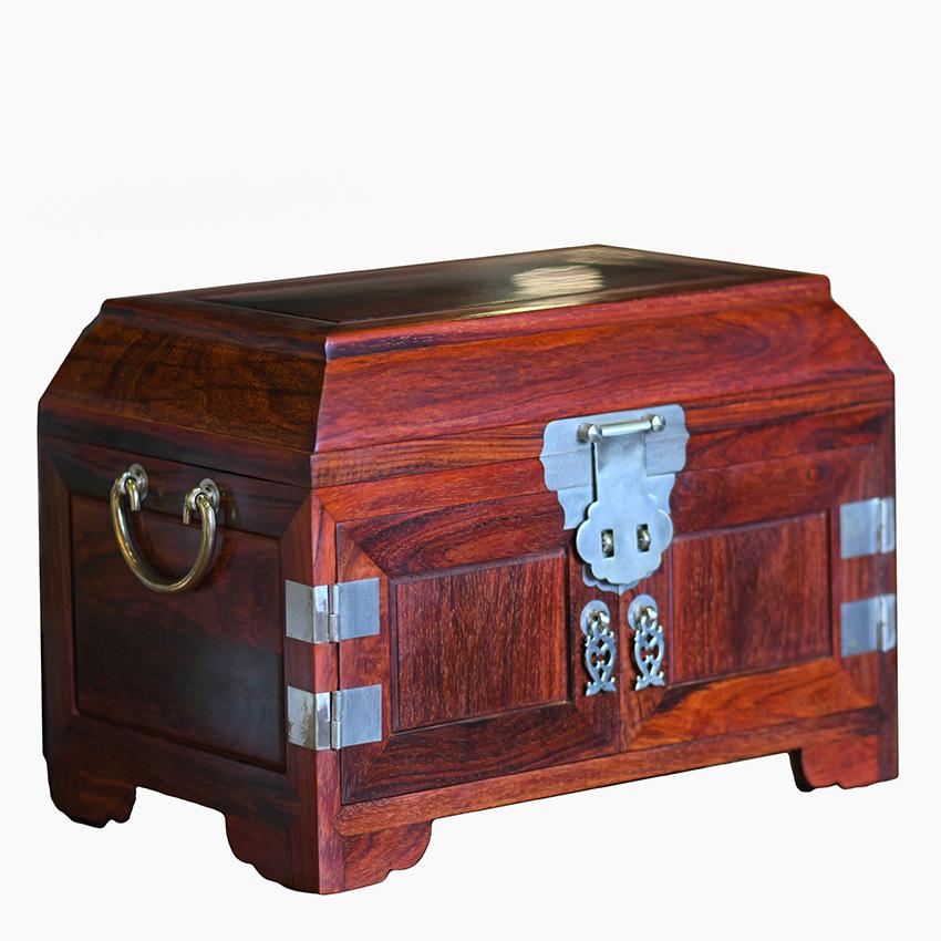 XIANYI Hộp gỗ Ấn Độ thùy gỗ trang sức hộp Ming phong cách đồng bằng da chính thức trường hợp trang s