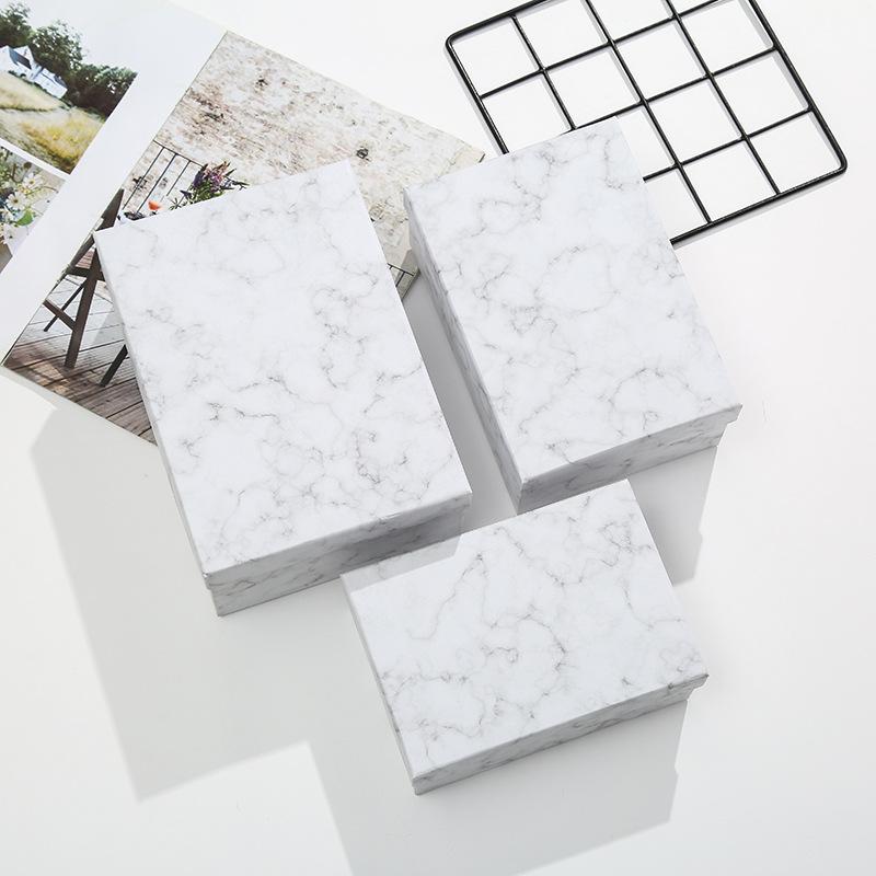Hộp giấy bao bì Hộp quà tặng thế giới mới bao gồm hộp đá cẩm thạch mẫu hộp quà tặng Ngày lễ tình nhâ
