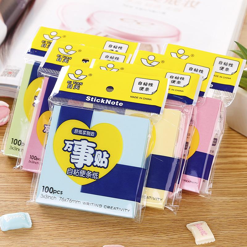 RITIAN Giấy note Nhãn dán chỉ mục sáng tạo Nhãn màu dễ thương Hàn Quốc Chỉ số đánh dấu Ghi chú Ghi c