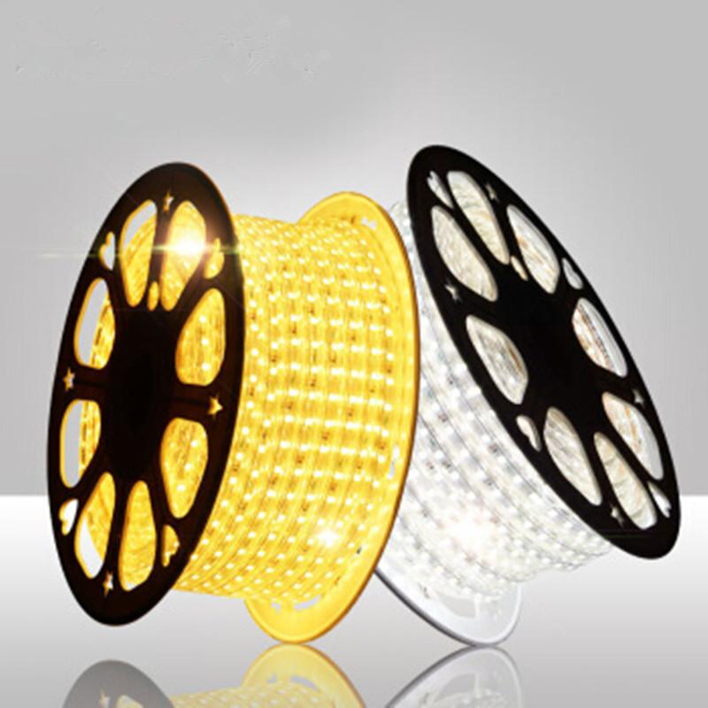 Đèn LED dây Đèn led với 5050 không thấm nước cao áp 5730LED vá linh hoạt dải ánh sáng mềm 2835 hàng