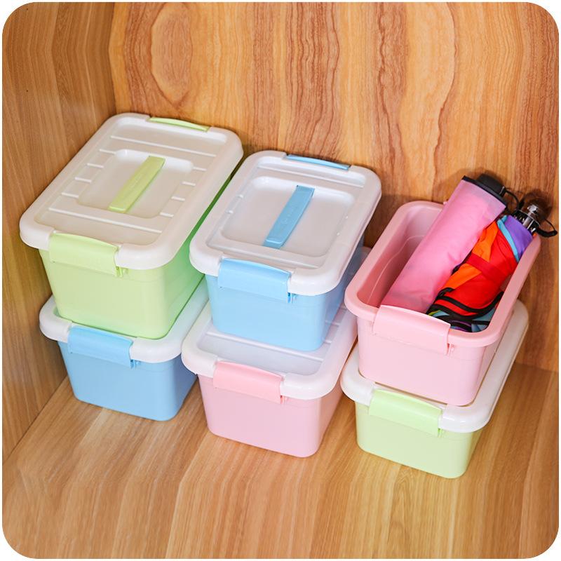 ZHAOZIJUN Thùng nhựa Kẹo màu nhựa cầm tay hộp lưu trữ E069 sinh viên văn phòng phẩm hộp lưu trữ mỹ p