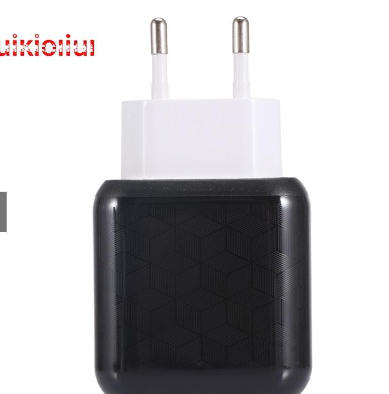 Đầu cắm sạc Củ Sạc 3.1A 2 Cổng USB Cho IPhone Samsung Đầu Cắm EU