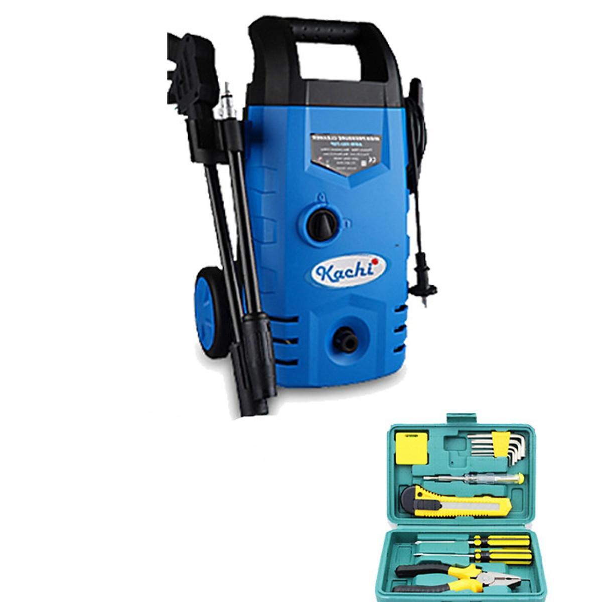 Combo máy phun xịt cao áp rửa xe Kachi MK70 (1400W) + Bộ dụng cụ sửa chữa 12 món