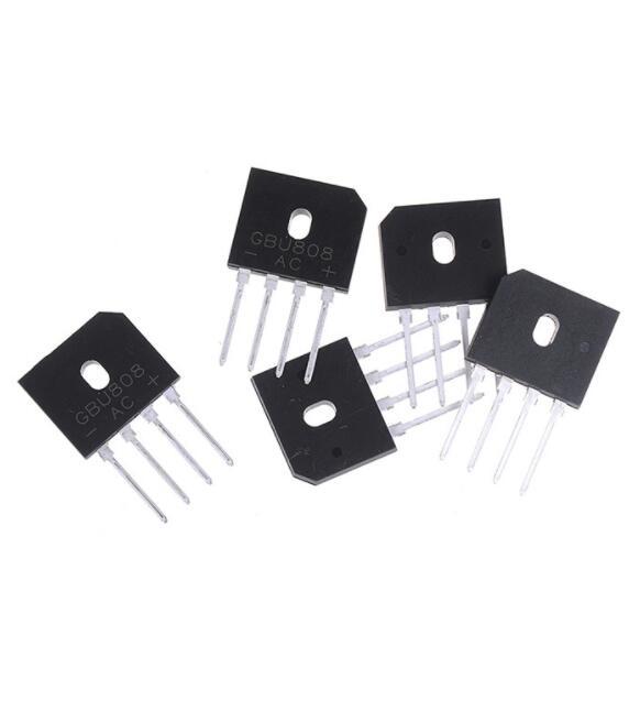 Chíp IC 5 chấn lưu dạng cầu GBU808 800V 8A chip IC
