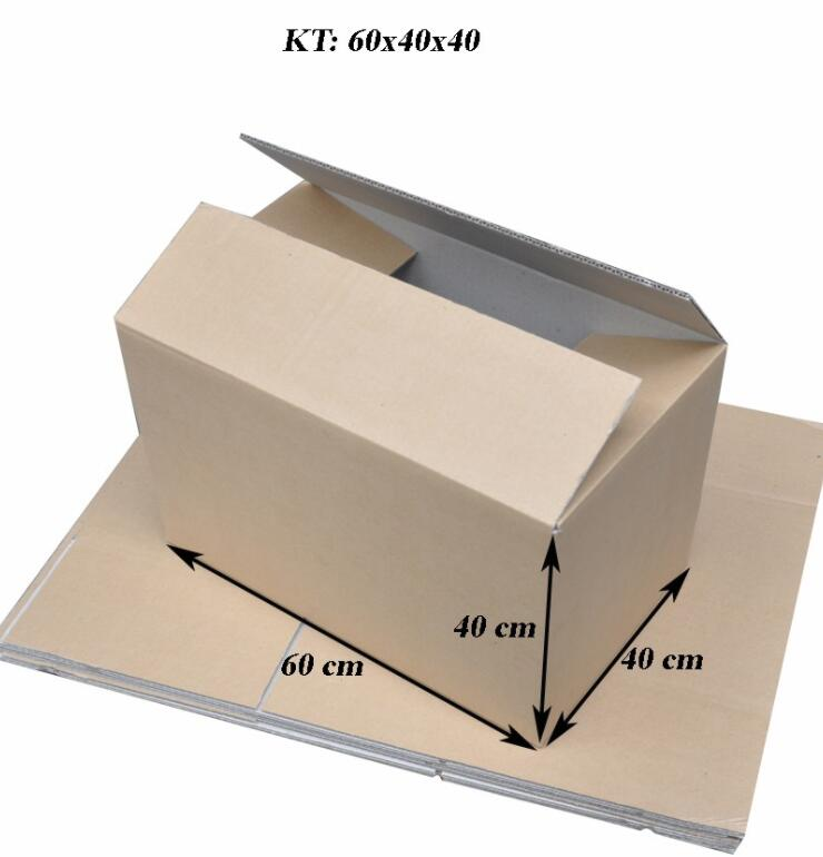 Hộp giấy Bộ 10 Thùng Carton Size 60x40x40 Cm - Xếp Chồng