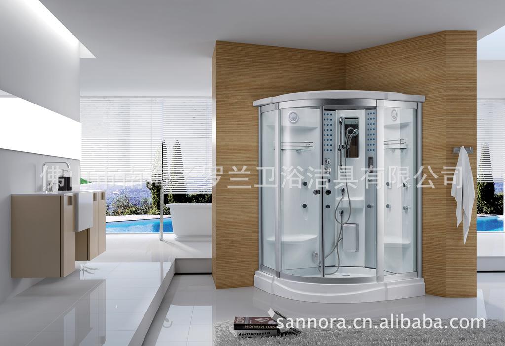 Phòng tắm hơi cao cấp đa chức năng , kiểu trong suốt .
