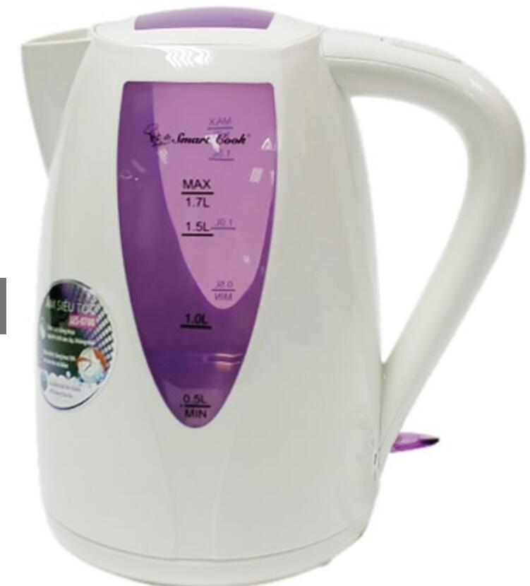 Ấm,bình đun siêu tốc Bình Đun Siêu Tốc Smartcook 1.7 Lít KES-0700 - Hàng Chính Hãng