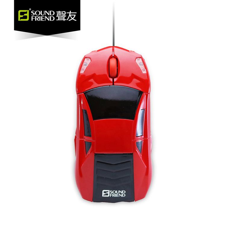 Sound Friend Phụ kiện chuột USB có dây hình xe đua .